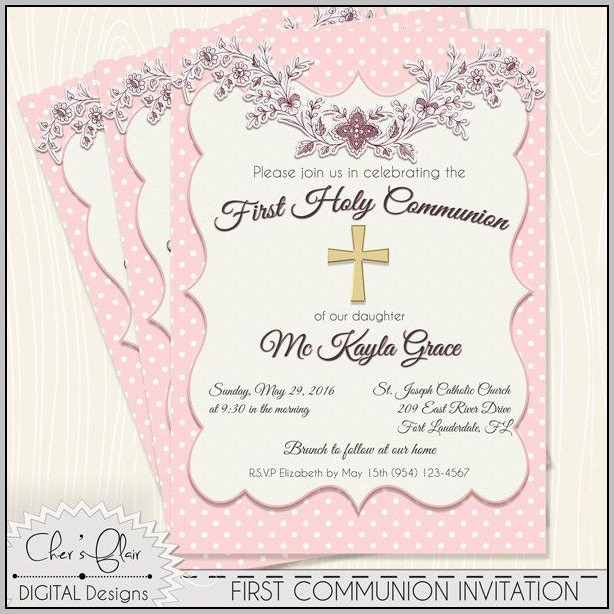 Catholic First Communion Invitations