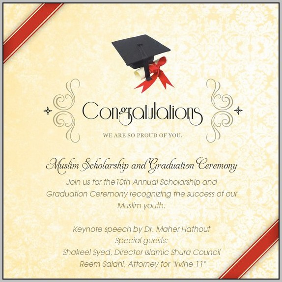 Commencement Ceremony Invitation Template