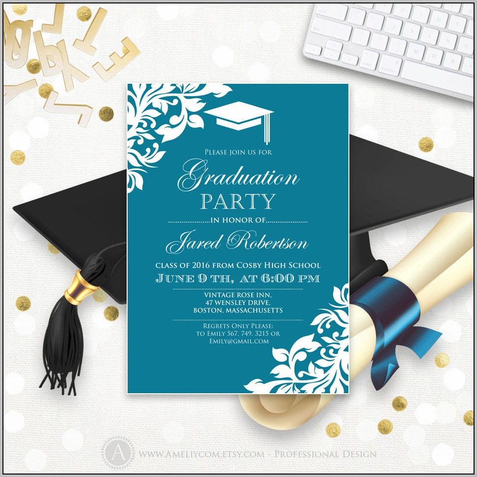 Create Graduation Party Invitations Free