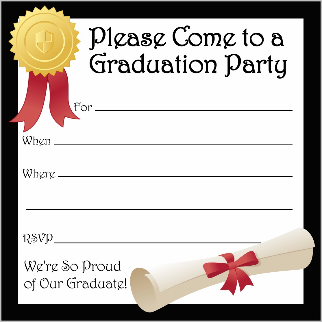 Unique Ideas For Graduation Party Invitations Templates With Prepossessing Layout For Create Own Graduation Party Invitations Templates Free Ideas | Silverlininginvitations