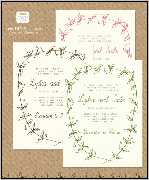 Create Invites Online Free Printable