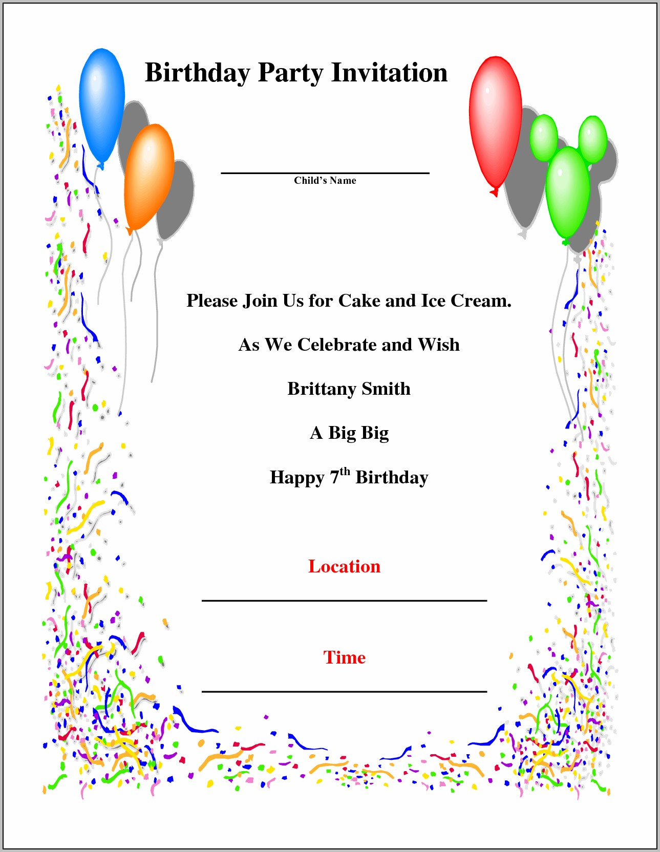 Create Party Invitations