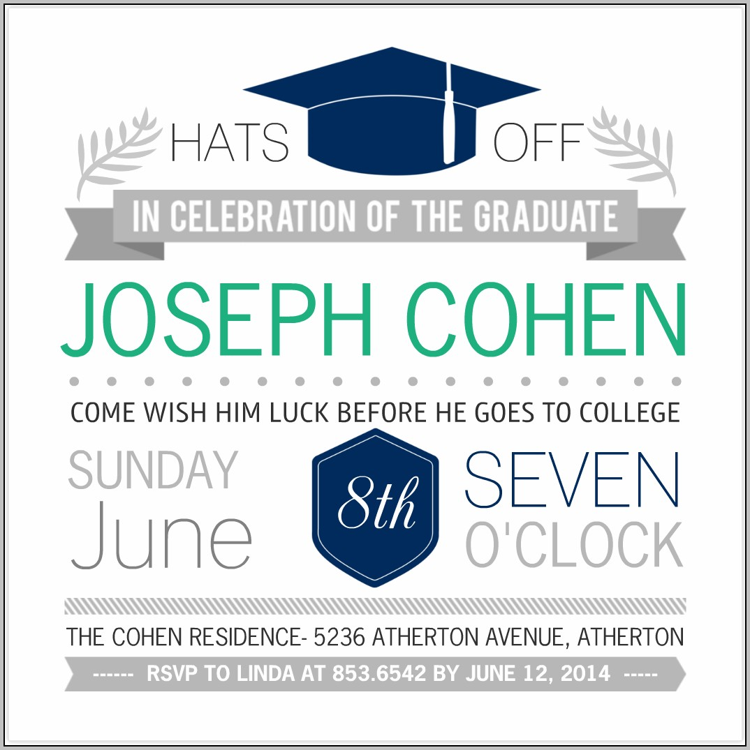 Create Your Own Graduation Party Invitations For Free