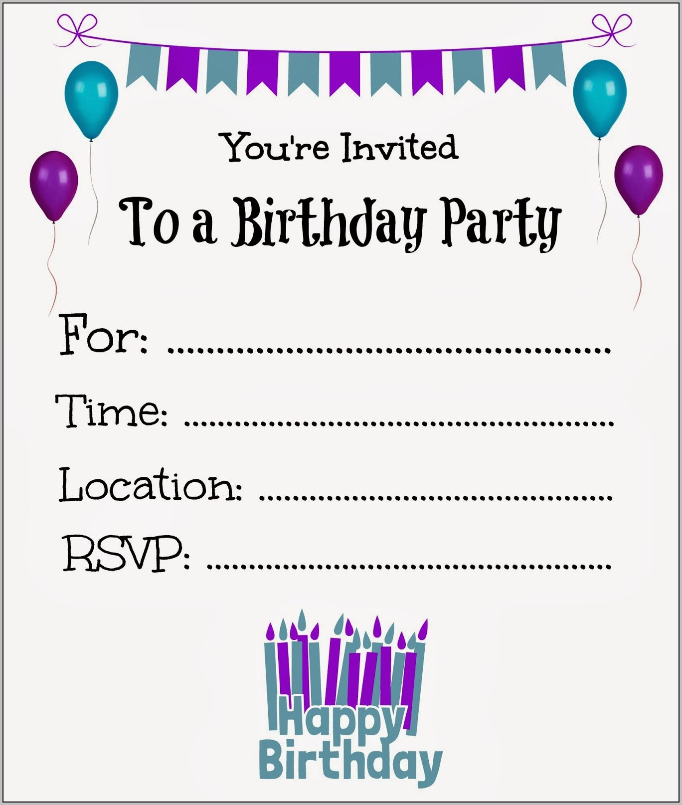 Design Your Own Birthday Invitations Free Printable