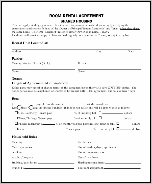 Basic Rental Lease Form