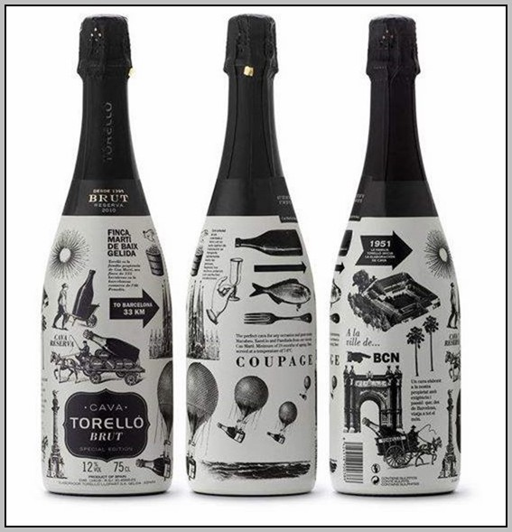 Champagne Label Design