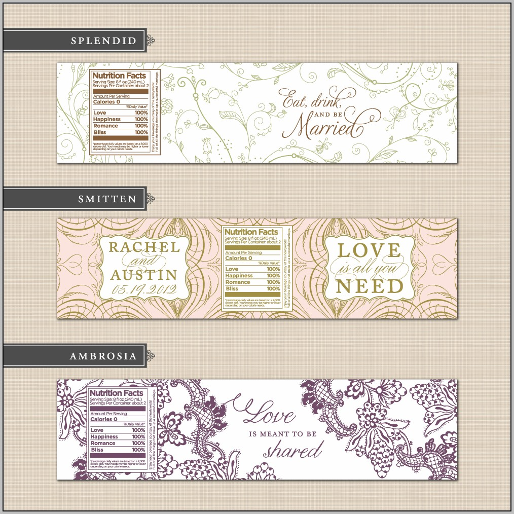 Champagne Label Template Free