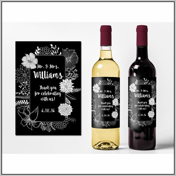 Cheap Wedding Wine Labels