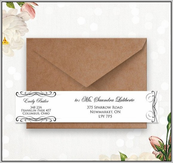 A10 Envelope Template