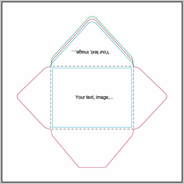 A2 Envelope Printing Template