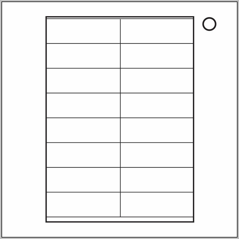A4 Label Template