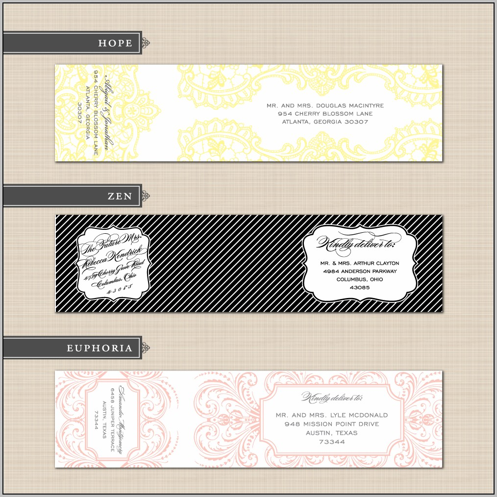Address Label Design Templates