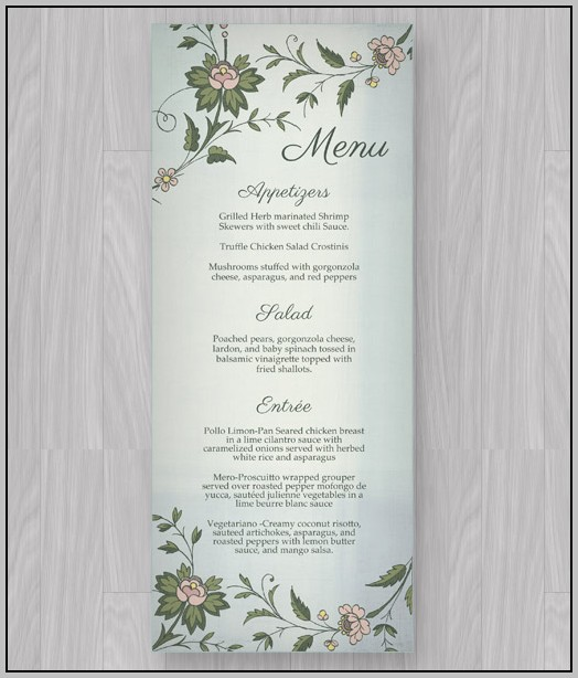 Afternoon Tea Menu Template Free