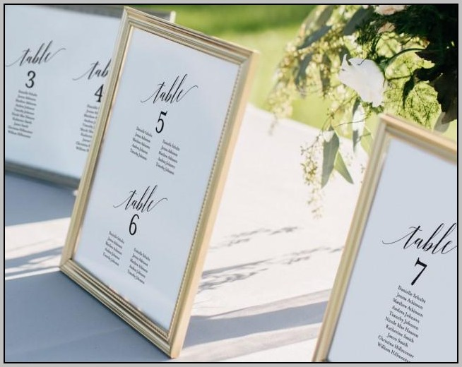 Alphabetical Wedding Seating Chart Template Free
