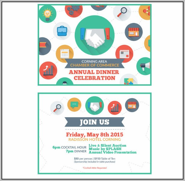Annual Dinner Invitation Card Template