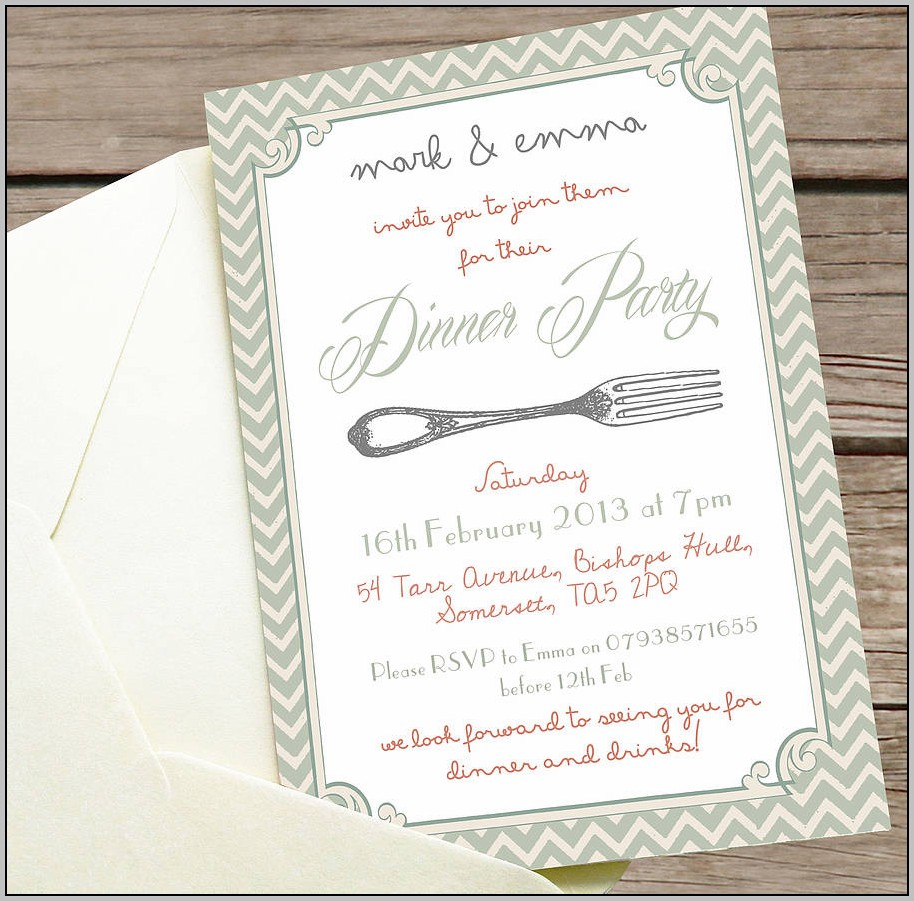 Birthday Dinner Celebration Invitation