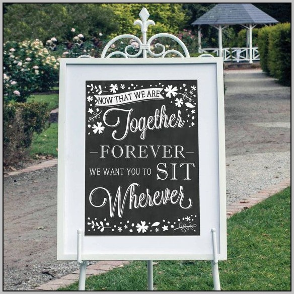 Blackboard Seating Plan Wedding