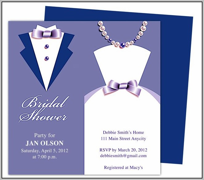 Blue Wedding Invitation Templates
