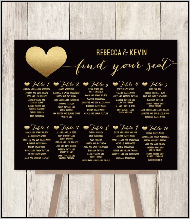 Buy Wedding Seating Chart