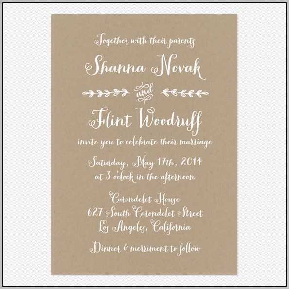 Casual Wedding Invitation Templates