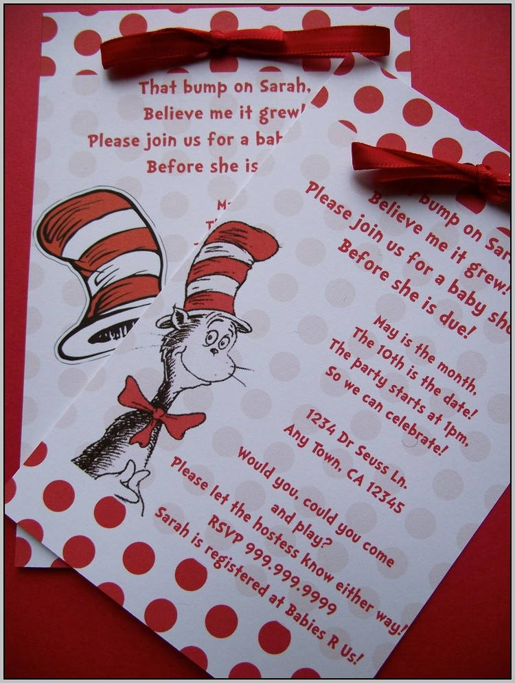Cat And The Hat Invitations