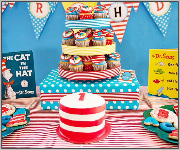 Cat In The Hat 1st Birthday Theme