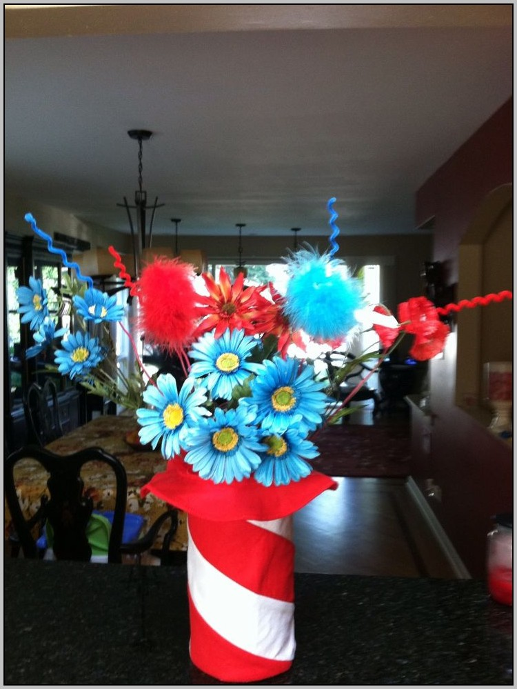 Cat In The Hat Baby Shower Centerpieces
