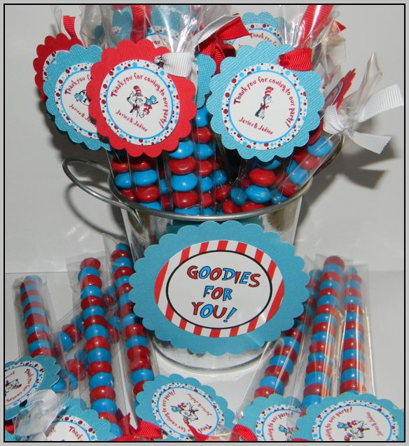 Cat In The Hat Baby Shower Favors