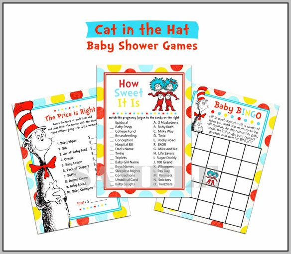 Cat In The Hat Baby Shower Games