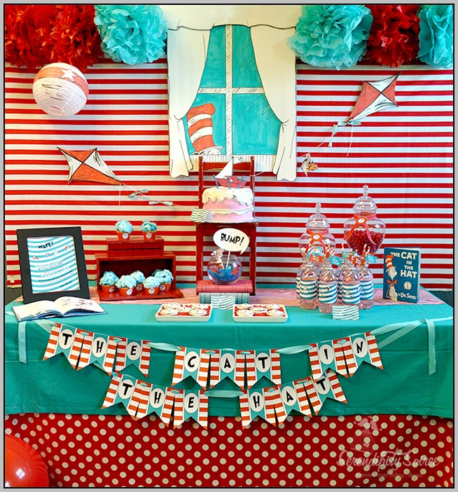 Cat In The Hat Birthday Party Decorations