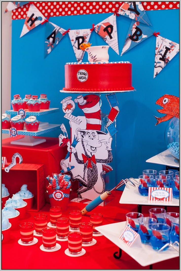 Cat In The Hat Birthday Theme