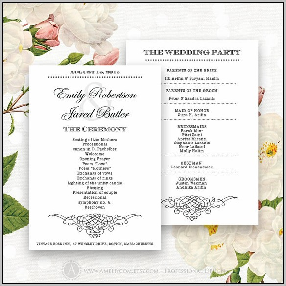 Ceremony Cards Templates