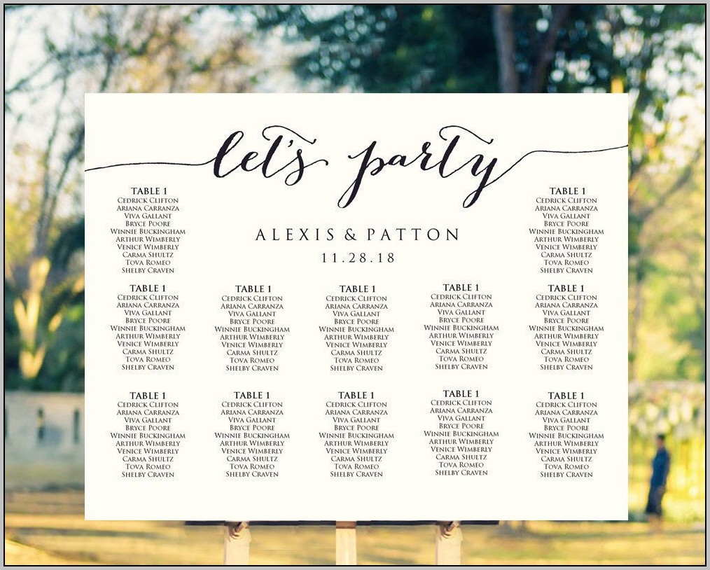 Create Wedding Seating Chart