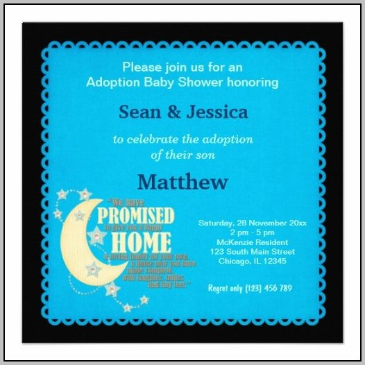 Adoption Baby Shower Invitations