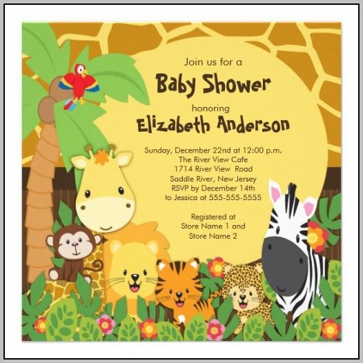 Animal Themed Baby Shower Invitations