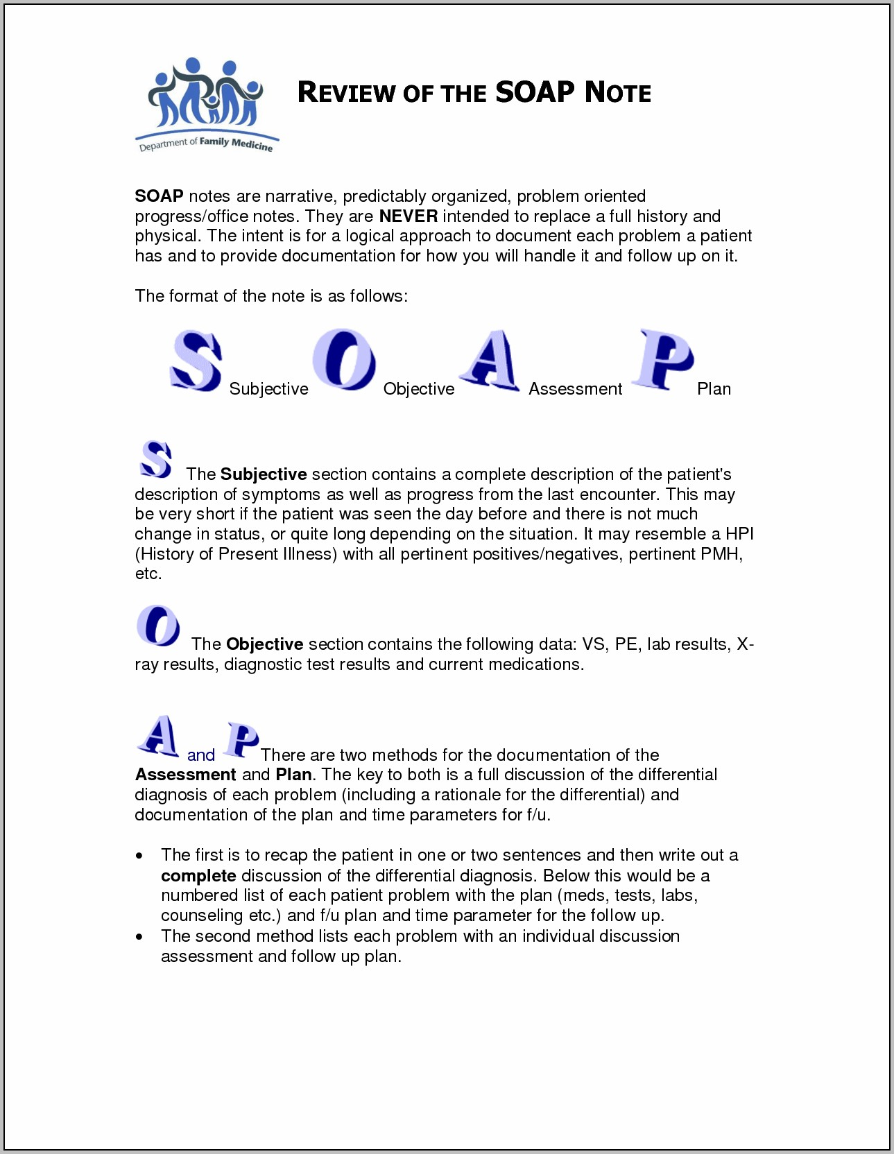 Anxiety Soap Note Example