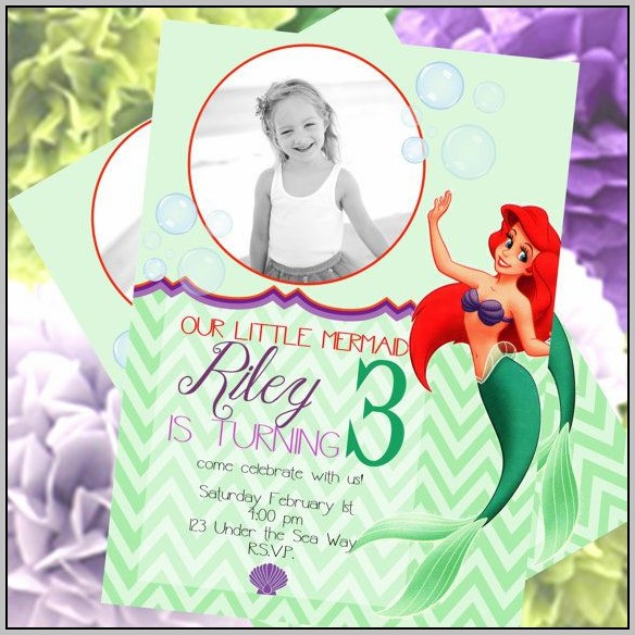 Ariel Invitation Cards