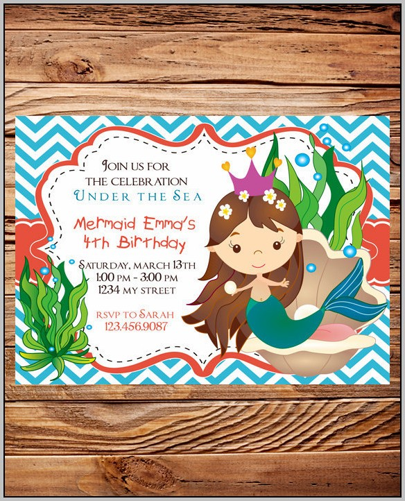 Ariel Invitation Wording