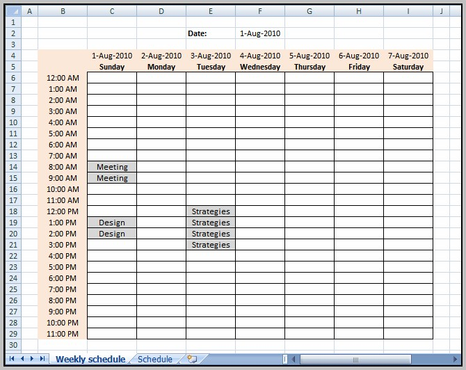 Automatic Schedule Maker Excel