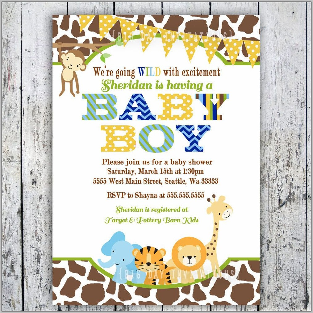 Baby Animal Baby Shower Invitations