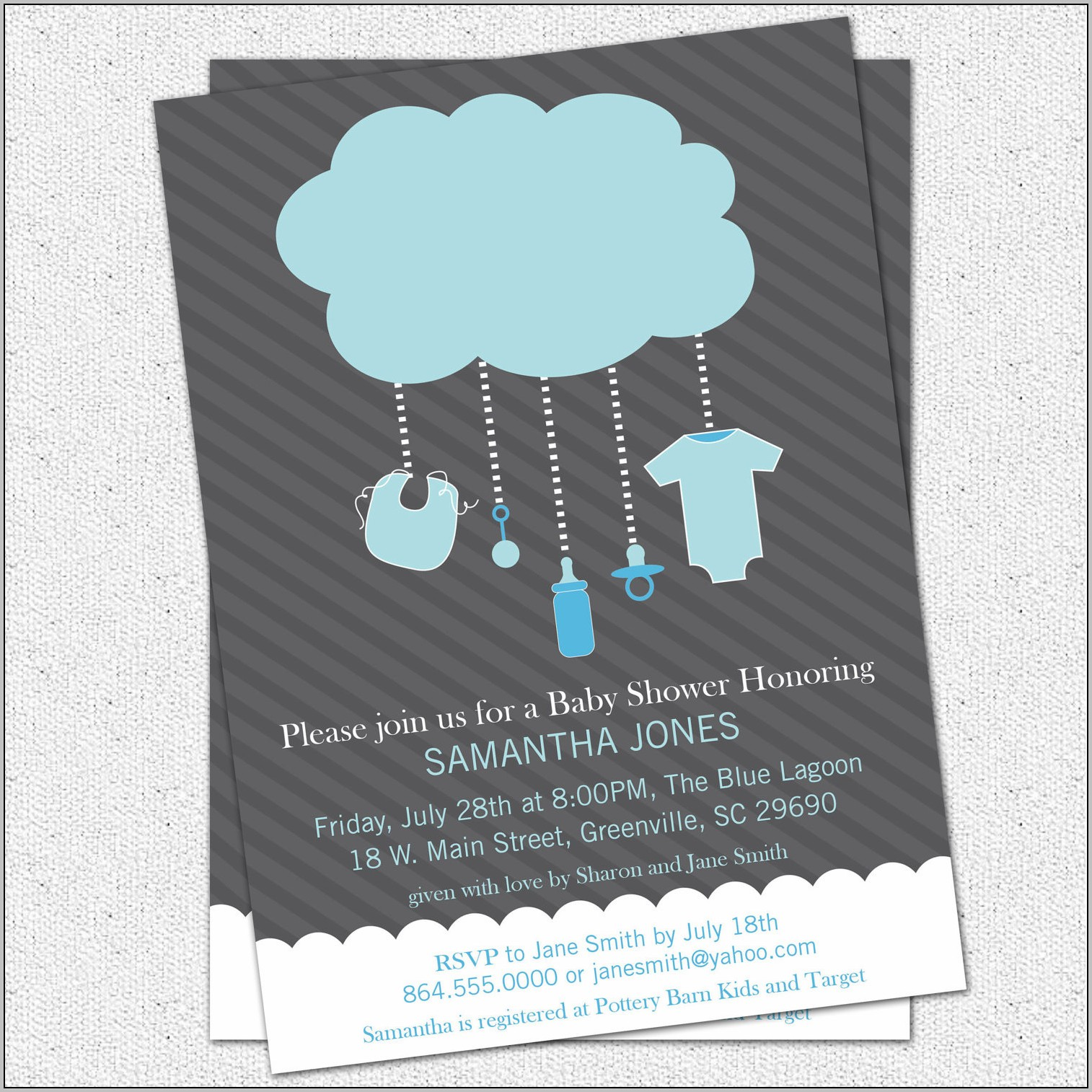 Baby Boy Baby Shower Invitation Ideas