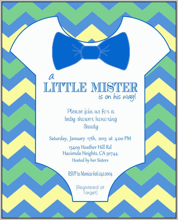 Baby Boy Invitation Template