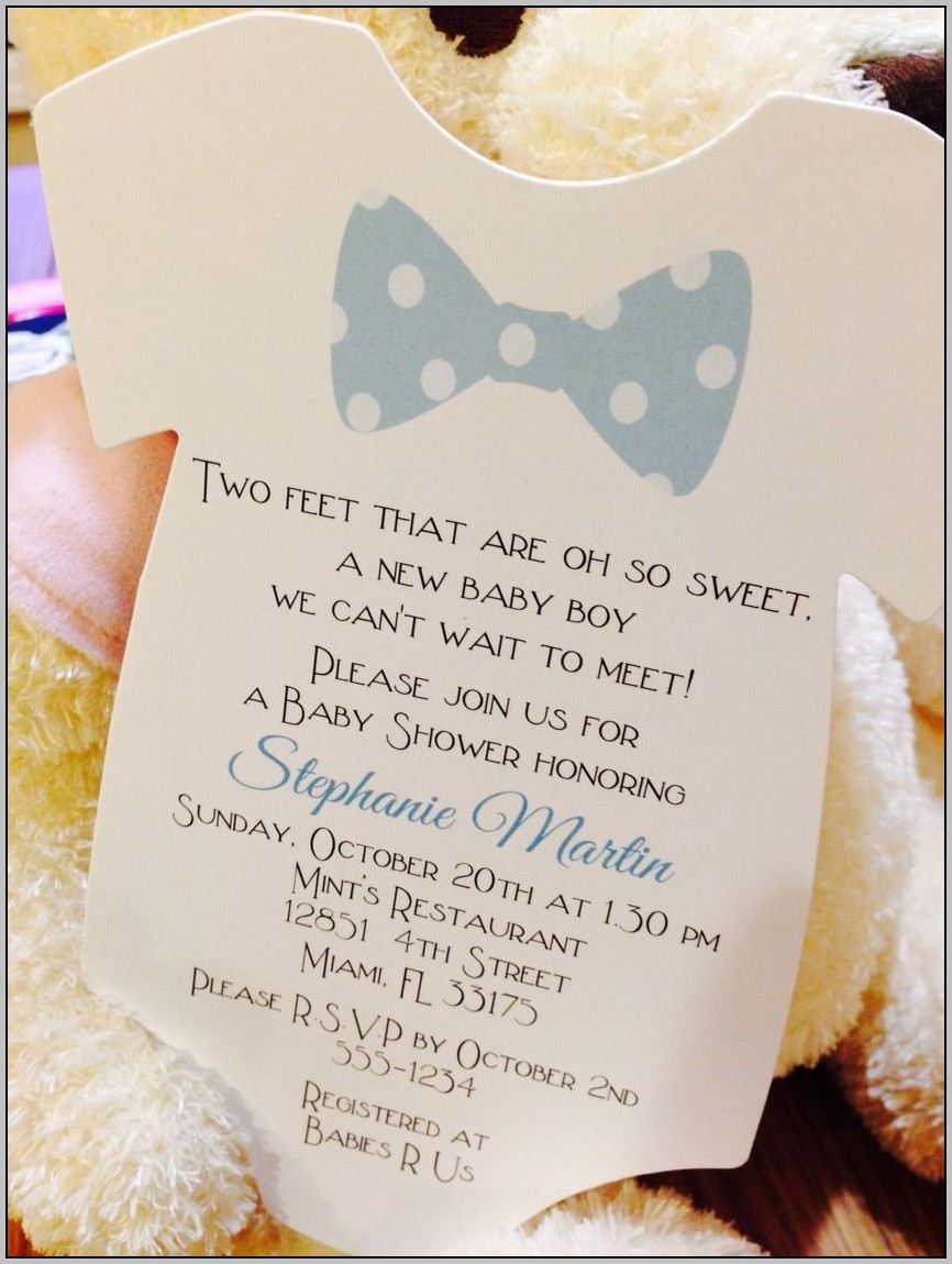 Baby Boy Shower Invitation Wording