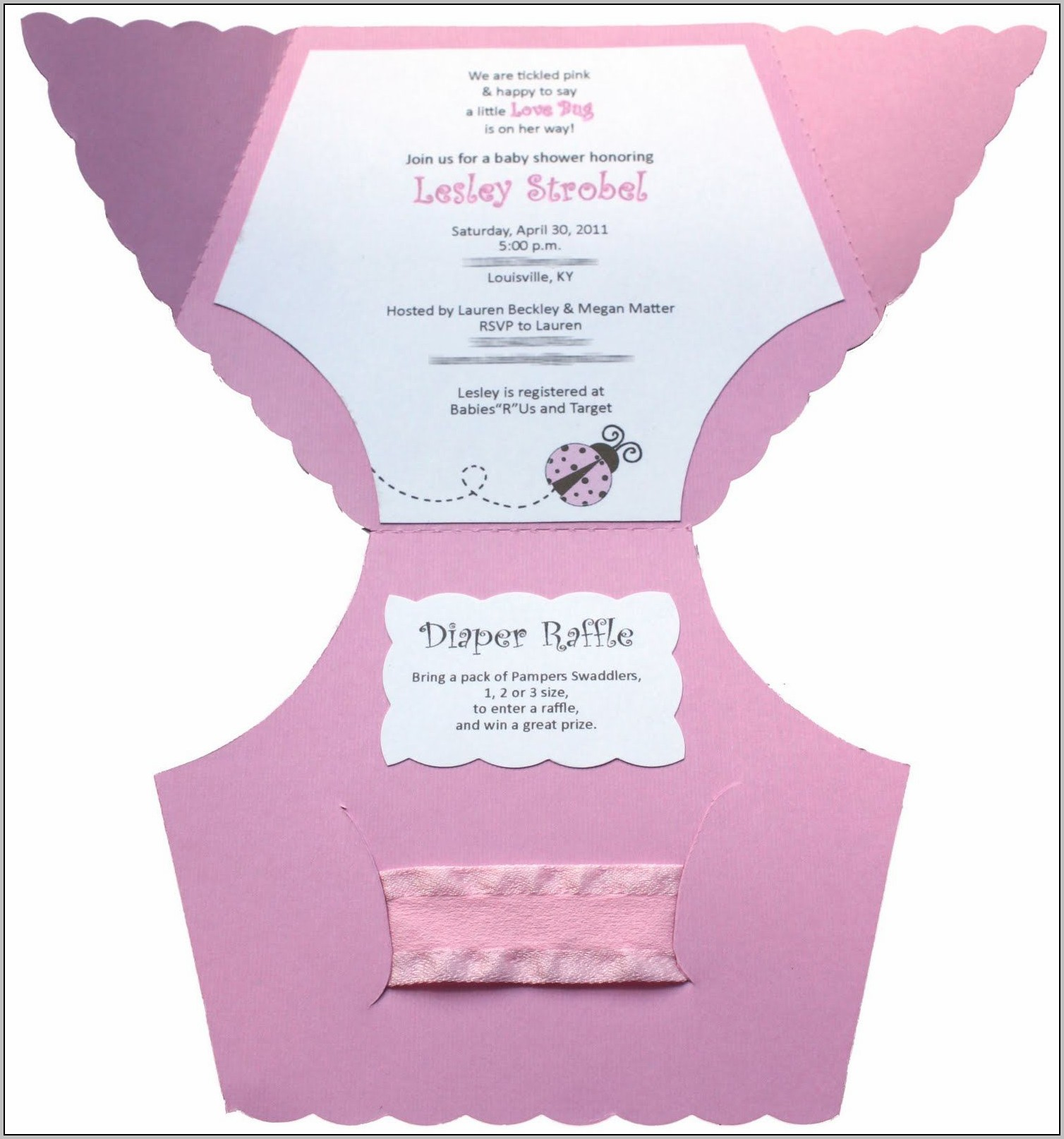 Baby Shower Announcement Template