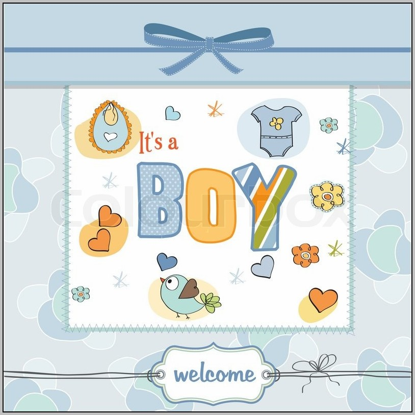 Baby Shower Cards For Boy