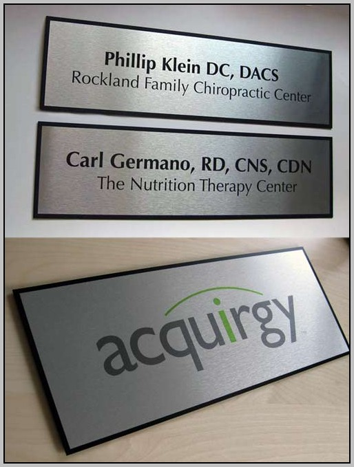 Business Name Plates For Doors