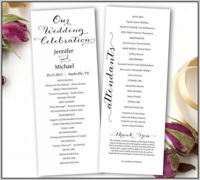 Buy Wedding Program Template