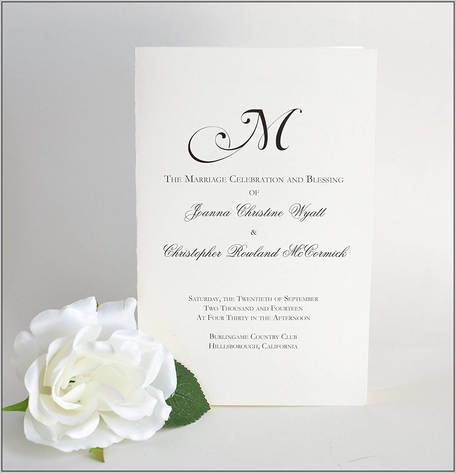 Buy Wedding Programs