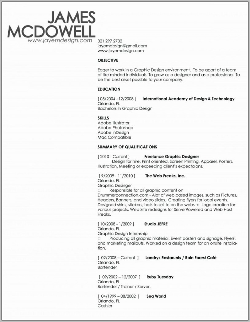 Copy Paste Resume Template