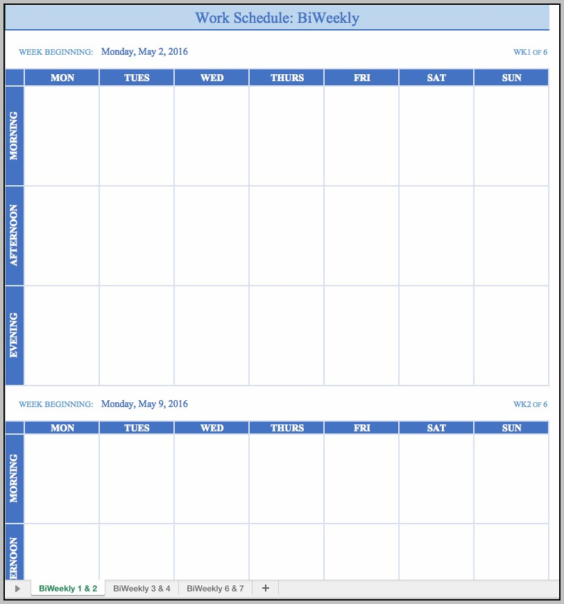 Creating A Work Schedule For Employees Free